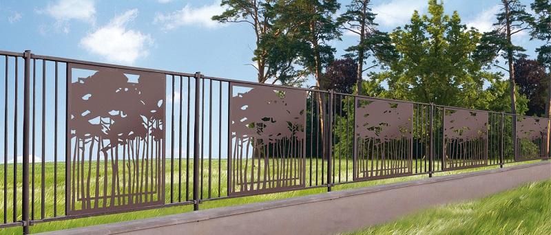 Clôture métallique décorative Caen, Le Havre, Alençon, Calvados, Normandie | Closystem