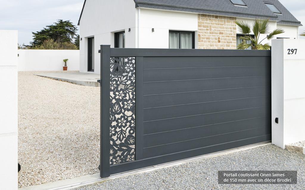 Portails en Aluminium Caen, Le Havre, Alençon, Calvados, Normandie | Closystem