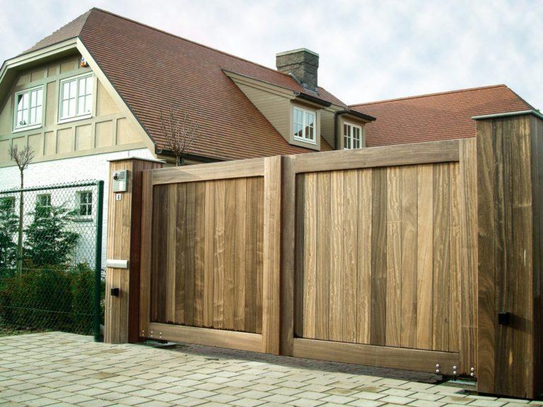 Portails en bois et bois exotique Caen, Le Havre, Alençon, Calvados, Normandie | Closystem