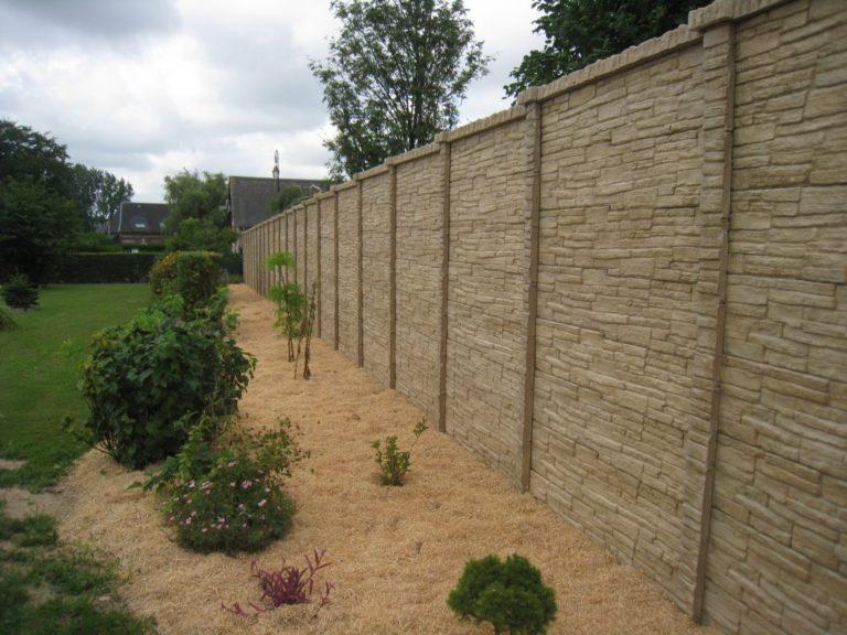 Clôture en béton imitation pierre sèche Caen, Le Havre, Alençon, Calvados, Normandie | Closystem